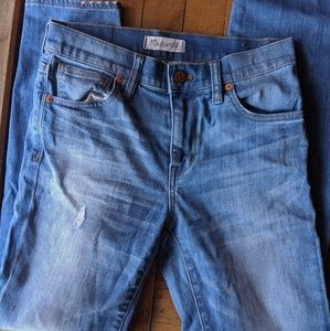 Madewell Size 25 High Rise Cropped Skinny Jeans